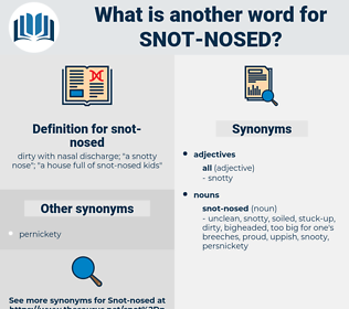snot-nosed, synonym snot-nosed, another word for snot-nosed, words like snot-nosed, thesaurus snot-nosed