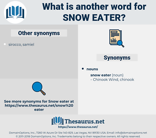 snow eater, synonym snow eater, another word for snow eater, words like snow eater, thesaurus snow eater