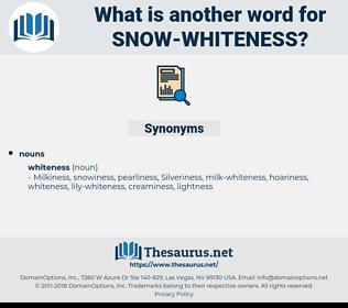 snow-whiteness, synonym snow-whiteness, another word for snow-whiteness, words like snow-whiteness, thesaurus snow-whiteness