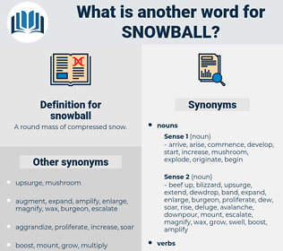 snowball, synonym snowball, another word for snowball, words like snowball, thesaurus snowball