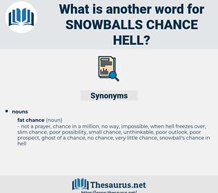 snowballs chance hell, synonym snowballs chance hell, another word for snowballs chance hell, words like snowballs chance hell, thesaurus snowballs chance hell