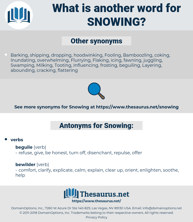 Snowing, synonym Snowing, another word for Snowing, words like Snowing, thesaurus Snowing