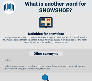 snowshoe, synonym snowshoe, another word for snowshoe, words like snowshoe, thesaurus snowshoe