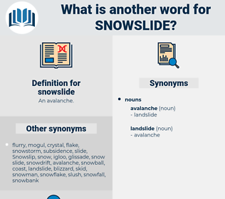 snowslide, synonym snowslide, another word for snowslide, words like snowslide, thesaurus snowslide