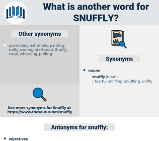 snuffly, synonym snuffly, another word for snuffly, words like snuffly, thesaurus snuffly