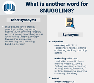 snuggling, synonym snuggling, another word for snuggling, words like snuggling, thesaurus snuggling