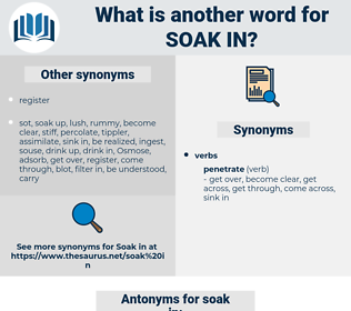 soak in, synonym soak in, another word for soak in, words like soak in, thesaurus soak in