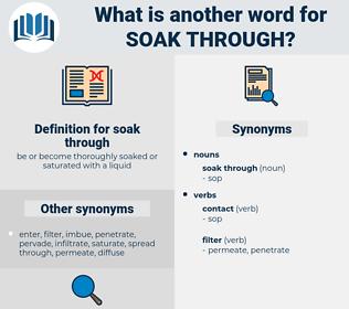 soak through, synonym soak through, another word for soak through, words like soak through, thesaurus soak through