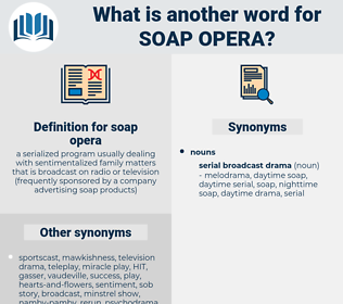 soap opera, synonym soap opera, another word for soap opera, words like soap opera, thesaurus soap opera