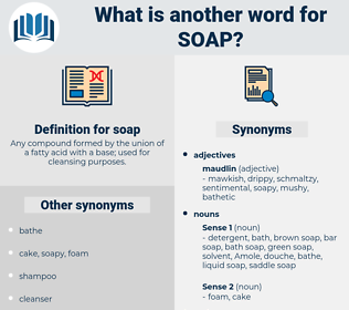 soap, synonym soap, another word for soap, words like soap, thesaurus soap