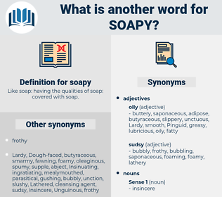soapy, synonym soapy, another word for soapy, words like soapy, thesaurus soapy