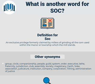 Soc, synonym Soc, another word for Soc, words like Soc, thesaurus Soc