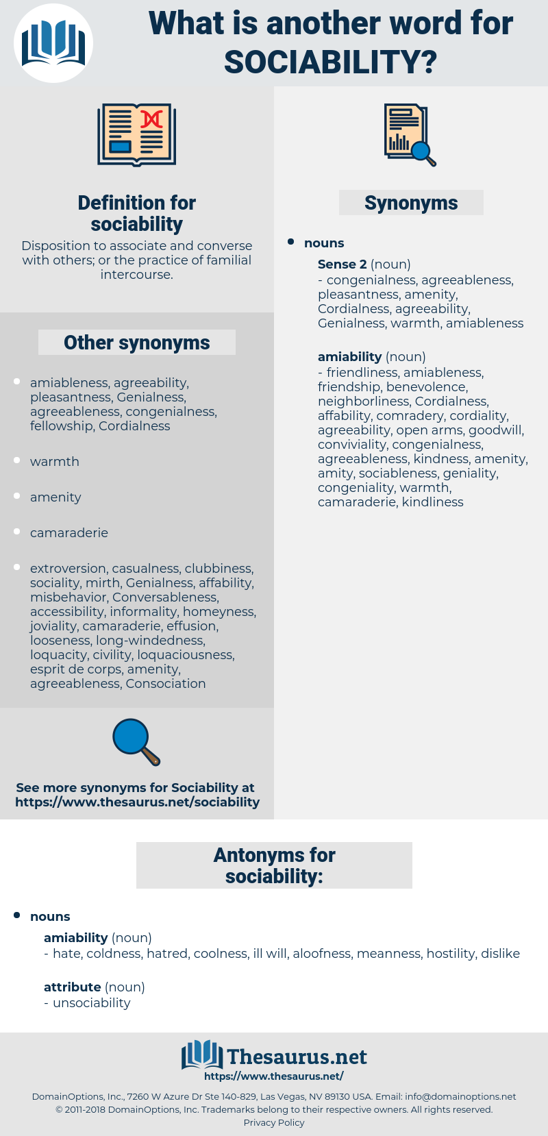 sociability, synonym sociability, another word for sociability, words like sociability, thesaurus sociability