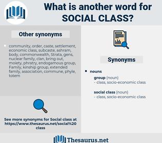social class, synonym social class, another word for social class, words like social class, thesaurus social class