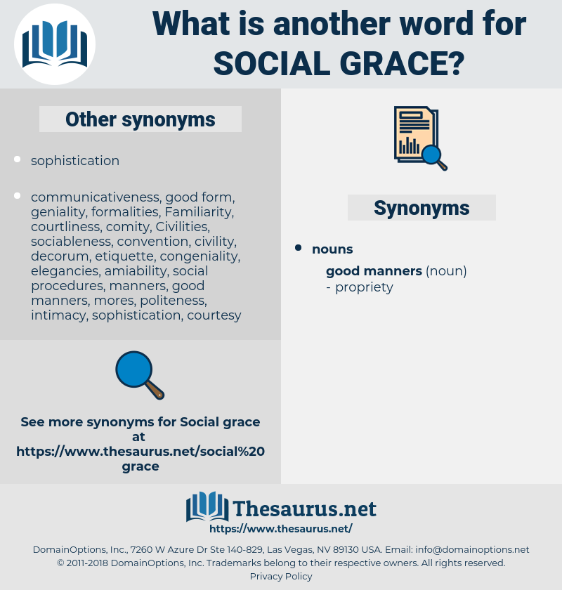 social grace, synonym social grace, another word for social grace, words like social grace, thesaurus social grace