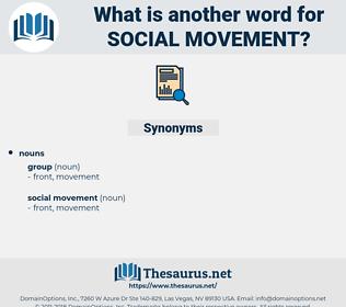 social movement, synonym social movement, another word for social movement, words like social movement, thesaurus social movement