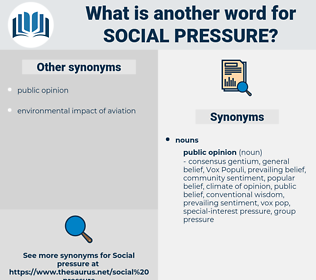 social pressure, synonym social pressure, another word for social pressure, words like social pressure, thesaurus social pressure