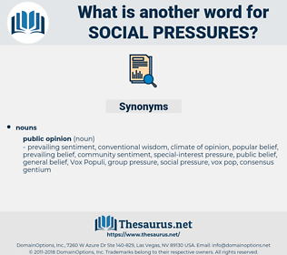 social pressures, synonym social pressures, another word for social pressures, words like social pressures, thesaurus social pressures
