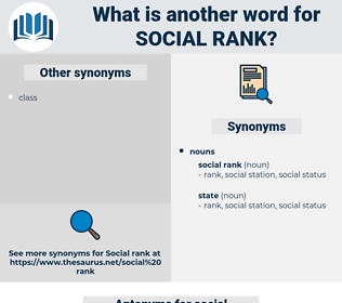 social rank, synonym social rank, another word for social rank, words like social rank, thesaurus social rank
