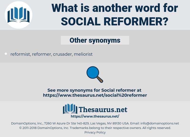 social reformer, synonym social reformer, another word for social reformer, words like social reformer, thesaurus social reformer