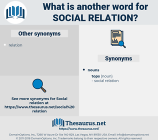 social relation, synonym social relation, another word for social relation, words like social relation, thesaurus social relation