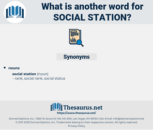 social station, synonym social station, another word for social station, words like social station, thesaurus social station