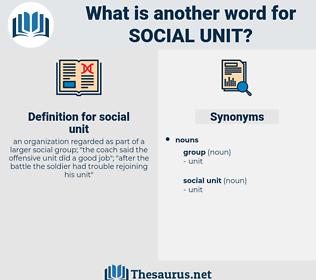social unit, synonym social unit, another word for social unit, words like social unit, thesaurus social unit