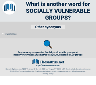 socially vulnerable groups, synonym socially vulnerable groups, another word for socially vulnerable groups, words like socially vulnerable groups, thesaurus socially vulnerable groups