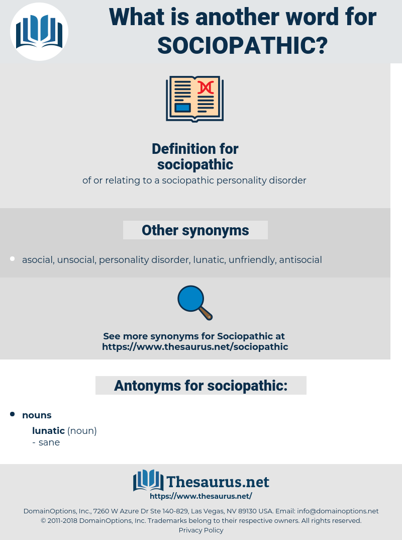 sociopathic, synonym sociopathic, another word for sociopathic, words like sociopathic, thesaurus sociopathic