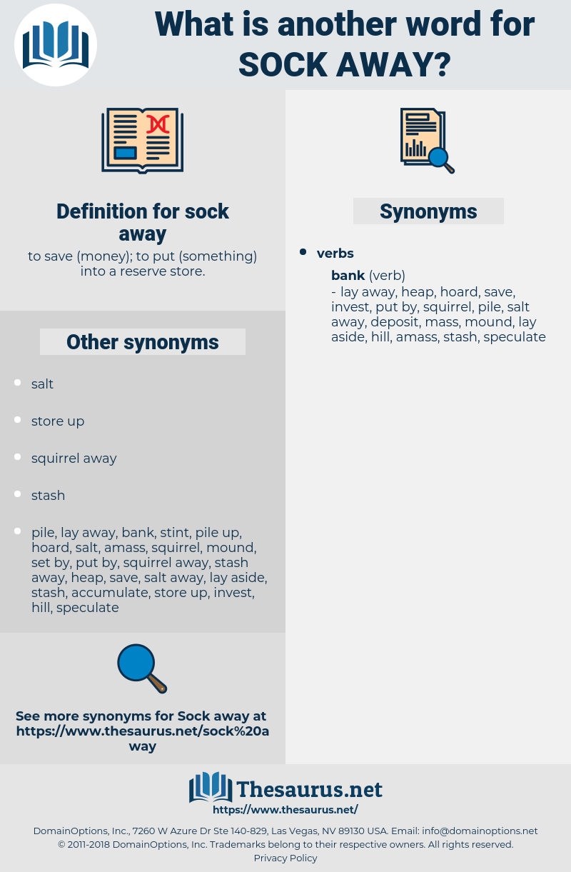 sock away, synonym sock away, another word for sock away, words like sock away, thesaurus sock away