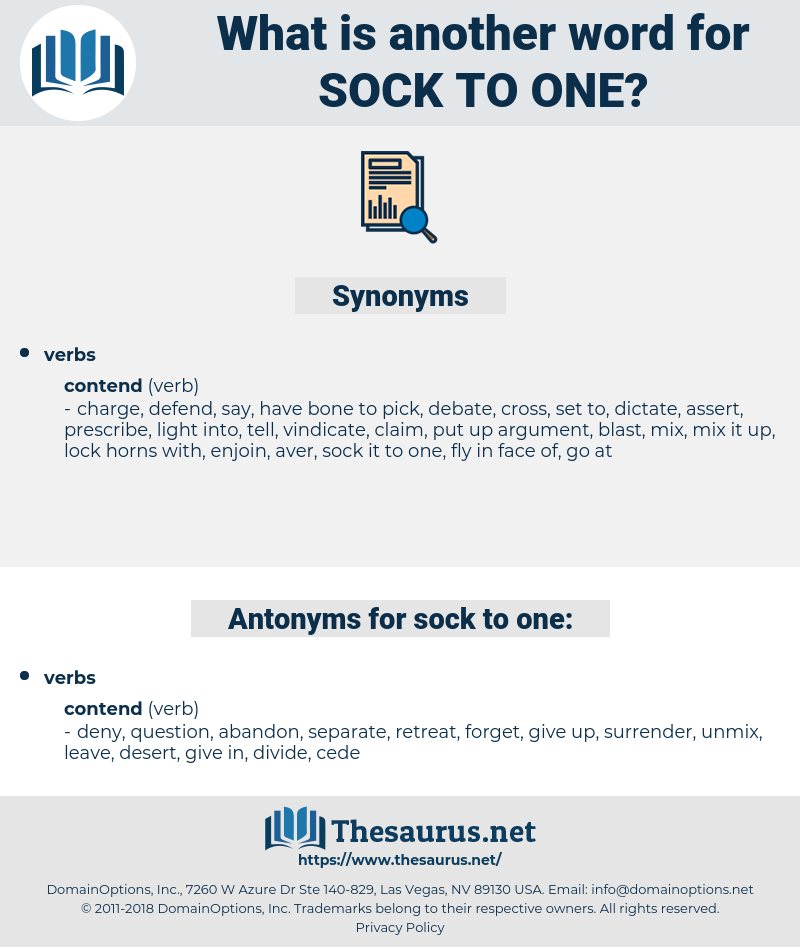 sock to one, synonym sock to one, another word for sock to one, words like sock to one, thesaurus sock to one