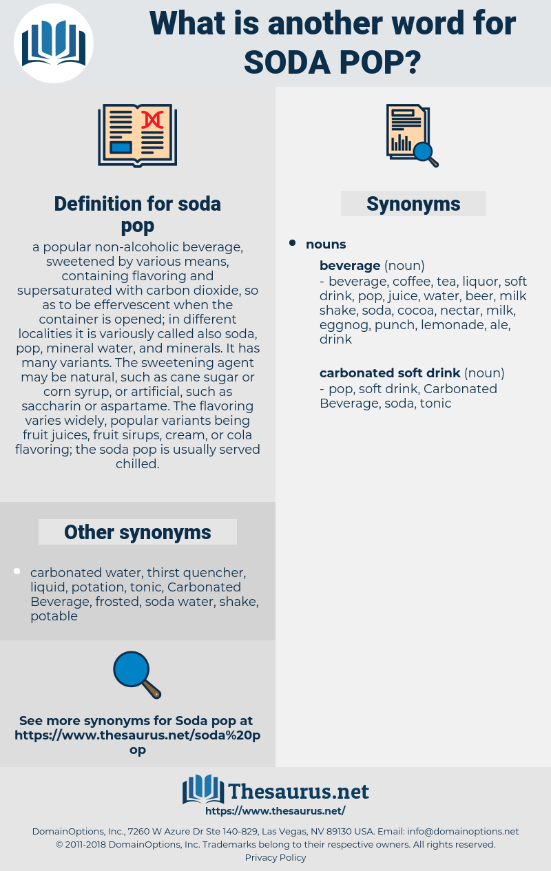 soda pop, synonym soda pop, another word for soda pop, words like soda pop, thesaurus soda pop