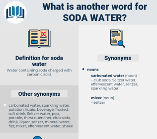 soda water, synonym soda water, another word for soda water, words like soda water, thesaurus soda water