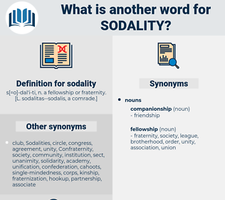 sodality, synonym sodality, another word for sodality, words like sodality, thesaurus sodality