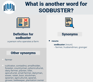 sodbuster, synonym sodbuster, another word for sodbuster, words like sodbuster, thesaurus sodbuster