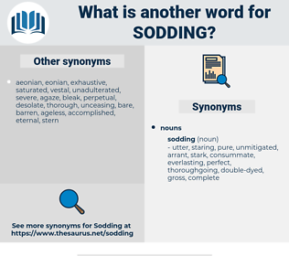 sodding, synonym sodding, another word for sodding, words like sodding, thesaurus sodding