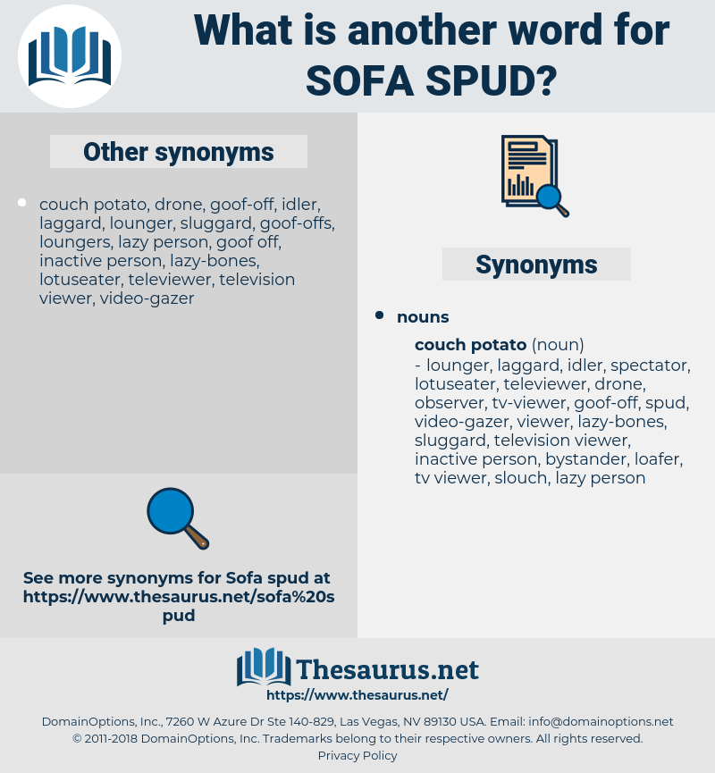 sofa spud, synonym sofa spud, another word for sofa spud, words like sofa spud, thesaurus sofa spud