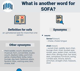 sofa, synonym sofa, another word for sofa, words like sofa, thesaurus sofa