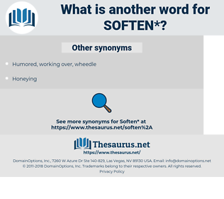soften, synonym soften, another word for soften, words like soften, thesaurus soften