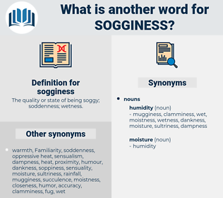 sogginess, synonym sogginess, another word for sogginess, words like sogginess, thesaurus sogginess