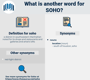 soho, synonym soho, another word for soho, words like soho, thesaurus soho