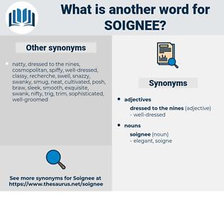 soignee, synonym soignee, another word for soignee, words like soignee, thesaurus soignee