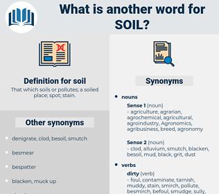 soil, synonym soil, another word for soil, words like soil, thesaurus soil