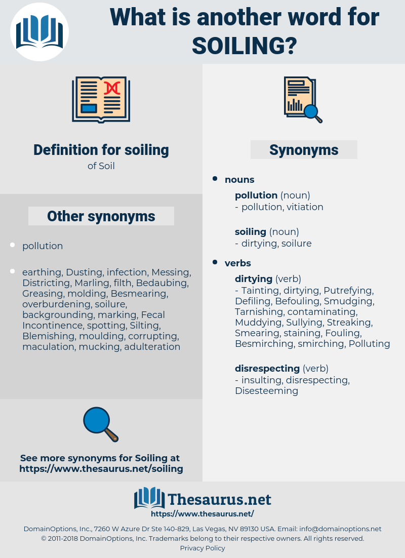soiling, synonym soiling, another word for soiling, words like soiling, thesaurus soiling