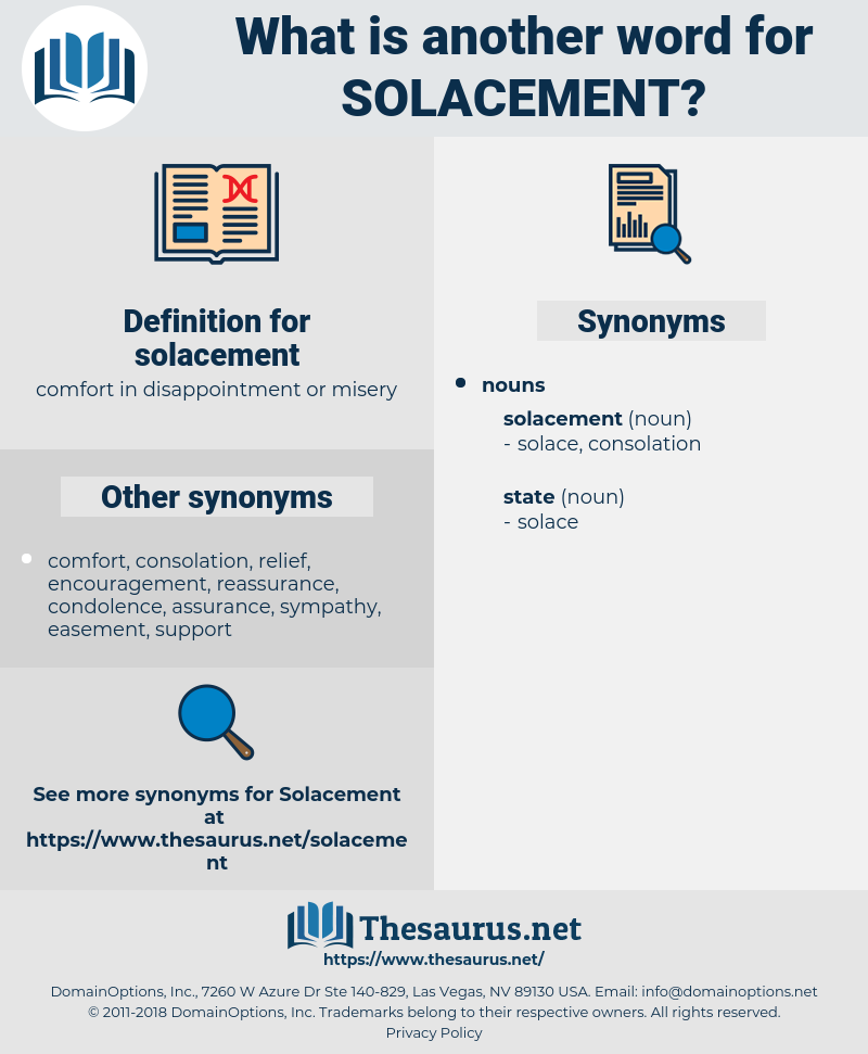 solacement, synonym solacement, another word for solacement, words like solacement, thesaurus solacement