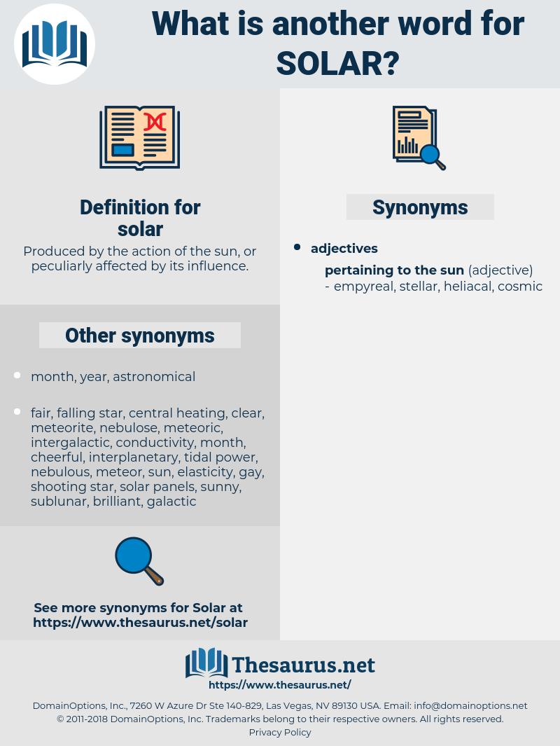 solar, synonym solar, another word for solar, words like solar, thesaurus solar