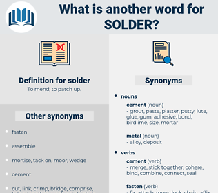 solder, synonym solder, another word for solder, words like solder, thesaurus solder