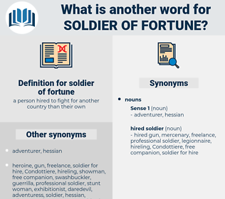 soldier of fortune, synonym soldier of fortune, another word for soldier of fortune, words like soldier of fortune, thesaurus soldier of fortune