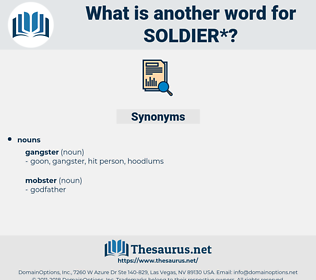soldier, synonym soldier, another word for soldier, words like soldier, thesaurus soldier