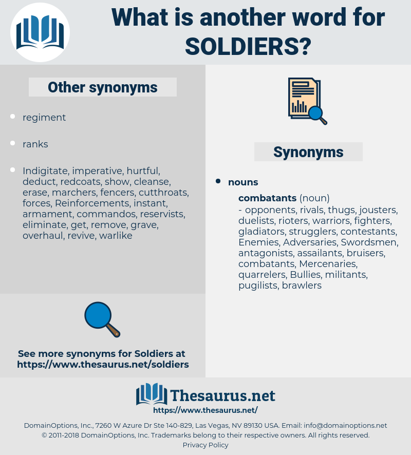 Soldiers, synonym Soldiers, another word for Soldiers, words like Soldiers, thesaurus Soldiers